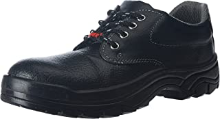 Aktion Safety Genuine Leather Shoes SA-208 - Size 7, Black