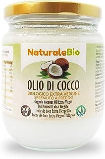 comprar comparacion Aceite de Coco Ecológico Extra Virgen 200 ml. Crudo y prensado en frío. 100% Orgánico, Puro y Natural. Aceite bio nativo n...