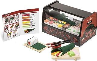 Melissa & Doug 9305 Roll, Wrap & Slice Sushi Counter Toy, multicolor