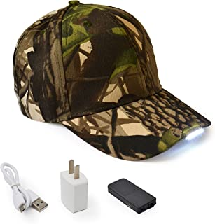 UltraKey Hands Free LED Baseball Cap Hat for Outdoor Jogging Hip Hop Party Holiday