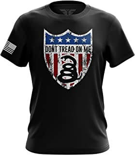 1776 Don't Tread on Me American Flag Military Army Mens T-Shirt Made in USA