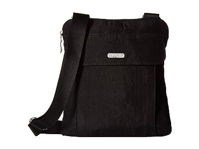 Baggallini All in RFID Slim Crossbody (Black/Sand) Handbags