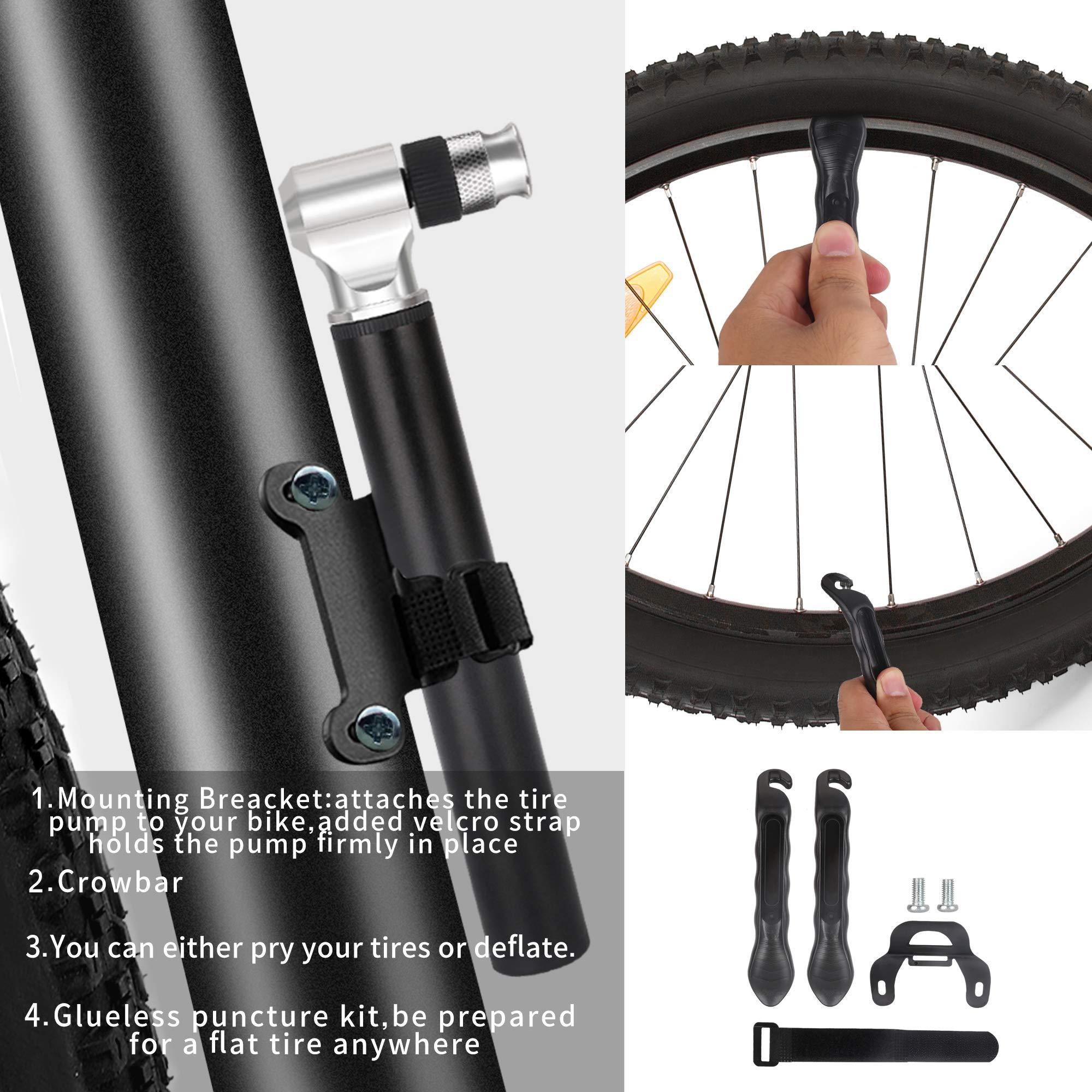 Details about  /100 x mini portable light bicycle bike tire air pump presta valve tube show original title