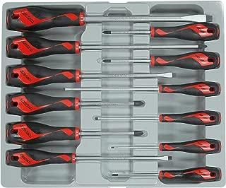 Teng Tools 12 Piece Screwdriver Set (Flat, PH, PZ) - MD912N