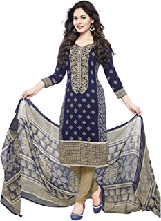 08619dba07 Amazon.in: Blues - Dress Material / Ethnic Wear: Clothing & Accessories