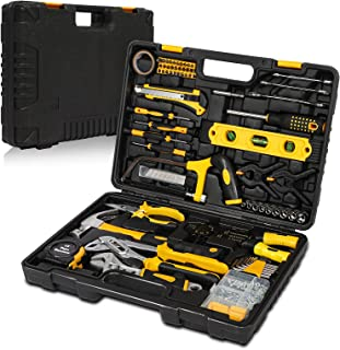 Tool Kit Set, 218 Pcs Hand Tools Kit with Socket, Hammer, Wrenches, Screwdriver Set, Pliers, Basic Tool Sets for Home DIY ...