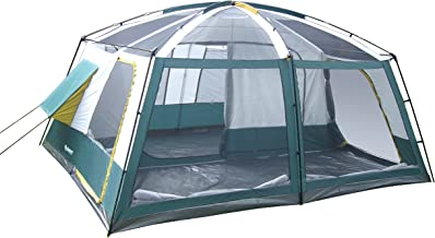 Gigatent 10 Person Family Tent -  3 Room Cabin Tent for Outdoors, Parties, Camping, Hiking, Backpacking - Waterproof Flame Resistant Heavy Duty material, Portable Easy To Set Up  - With Carry Bag