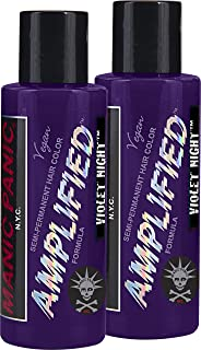 "Manic Panic Amplified Semi-Permanent Hair Color Cream - Violet Night 4oz""Pack of 2"""