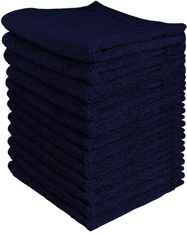 知恵スペクトラムクリアUtopia高級綿100?% Washclothsお手入れ簡単、スパンコットンの柔らかさと吸収性、12パック?–?(13?
