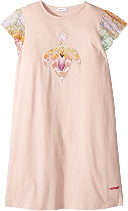 Embroidered Patch Dress (Big Kids)