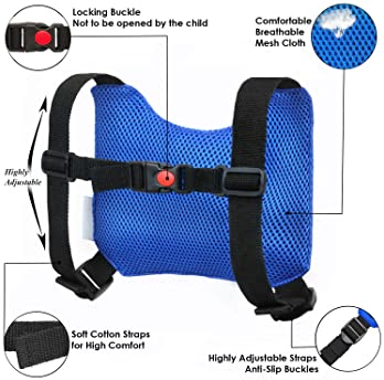 HappyVk Safety Harness for Kids-Anti Lost Walking Toddler Baby Leash-with Drawstring Storage Bag and Belt for Parents...