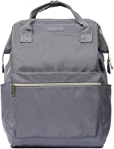 Lily & Drew Casual Travel Daypack School Backpack for Men Women and 15.6 Inch Laptop Computer, with Wide Doctor Style Top Opening and USB Port (Grey)