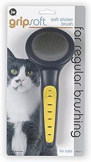 JW Gripsoft 65027 Cat Slicker Brush, Grey/Yellow, One Size