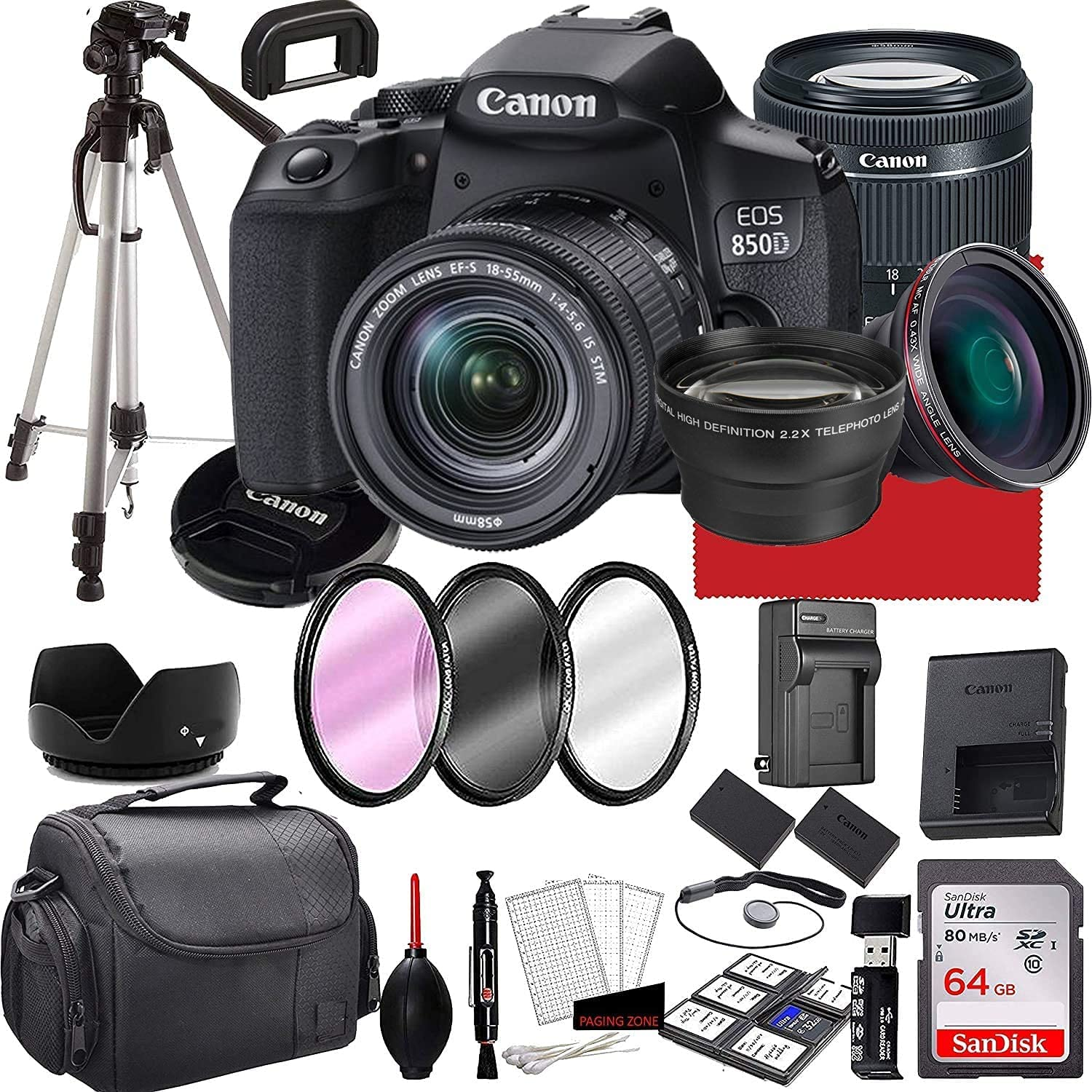 Canon EOS 850D Rebel T8i DSLR Camera 18-55mm f S 4-5.6 Ranking Free Shipping Cheap Bargain Gift TOP20 is with
