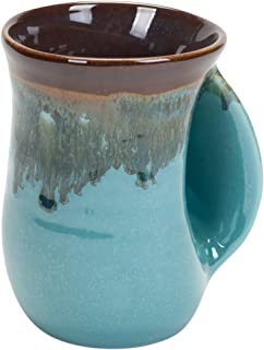 Clay in Motion Ocean Tide Handwarmer Mug, Right Hand