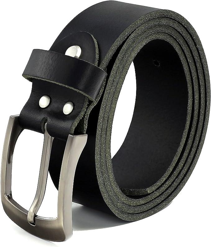 7354 opinioni per Fa.Volmer Nero Cintura 100% pelle di bufalo, 38 mm di larghezza e circa 3-4 mm
