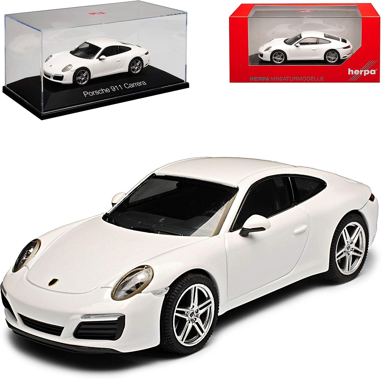 Porsche 911 991 Carrera Coupe Weiss Modell 2012 2019 Version Ab Facelift 2015 1 43 Herpa Modell Auto Mit Individiuellem Wunschkennzeichen Spielzeug