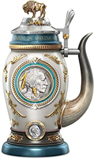 Buffalo Nickel Porcelain Stein with Genuine Coin and James Earle Fraser's Design by The Bradford Exchange