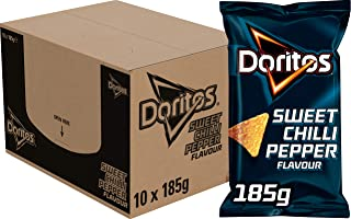 Doritos Tortilla Chips Sweet Chili Pepper, Schachtel 10 Stück x 185 g