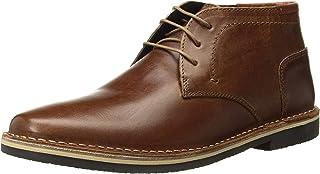 حذاء شوكا للرجال من ستيف مادن, (جلد كونياك), 40 EU Wide