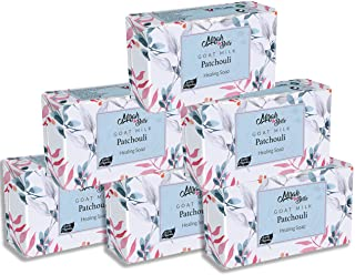 Mirah Belle - Organic Goat Milk, Patchouli Healing Soap Bar (Pack of 6-125 gm) - For Soothing Acne and Pimples, Lightening...