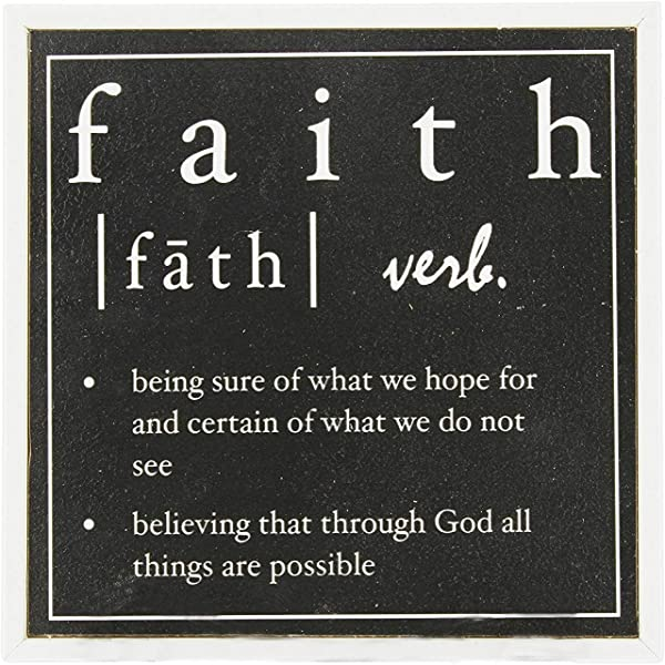 The Bridge Collection Faith Text Definition Wood Block Sign