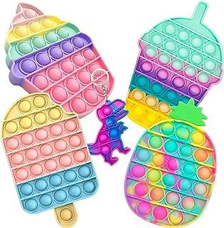 5 اسباب بازی استرس حباب حباب پاپ Fidget ، اسباب بازی فشار Fidget برای کودکان ، اسباب بازی استرس Fidget استرس برای کودکان اوتیستیک بزرگسالان فشار دادن اسباب بازی اوتیسم کلاس درس اسباب بازی اضطراب ADHD (مجموعه D)