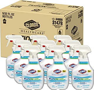 Clorox Healthcare Fuzion Cleaner Disinfectant Spray, 32 Ounces (Pack of 9)