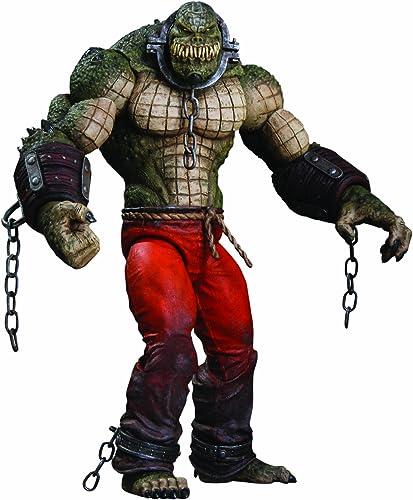 DC Direct Batman  Arkham City  Killer Croc Deluxe Action Figur