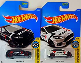 Hot Wheels Ford Focus RS Black and White HW Speed Graphics