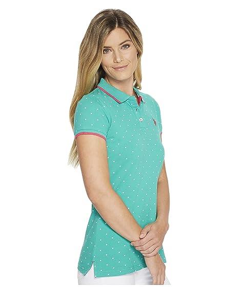 Dot Pique POLO Print Shirt Stretch U S ASSN Polo nRXqO66P