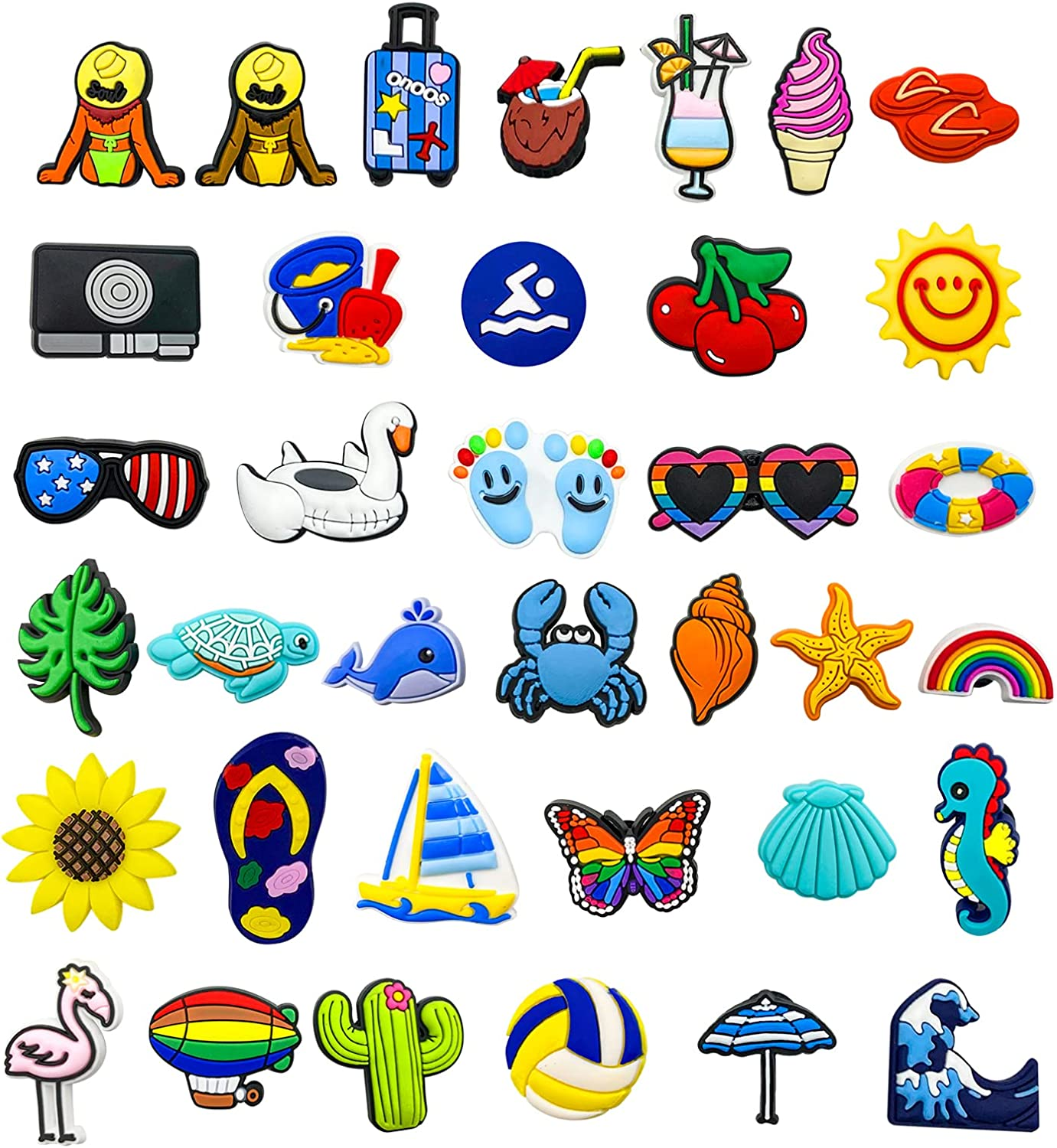 35 90 Many popular brands 165 PCS Different Cute PVC Charms Br In a popularity Shoe for Sandals Clog