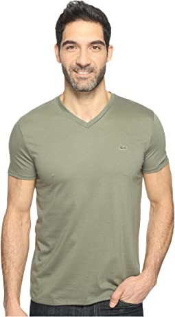 Lacoste - Short Sleeve Pima Jersey V-Neck T-Shirt