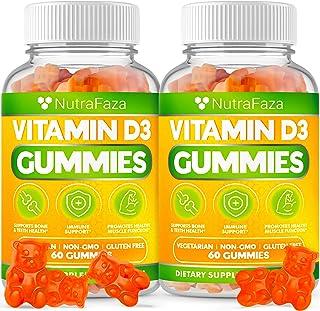 (2 Pack) Vitamin D3 Gummies 2000 iu - Immune Support - Healthy Bones, Teeth, Joints - Vegetarian - Gluten-Free - Chewable ...