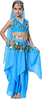 Seawhisper Belly Dancer Costumes for Girls Kids Halloween Outfit