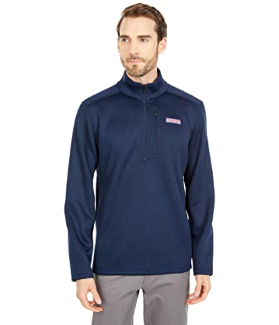 Vineyard Vines Mountain Sweater Fleece 1/4 Zip (Vineyard Navy) Men
