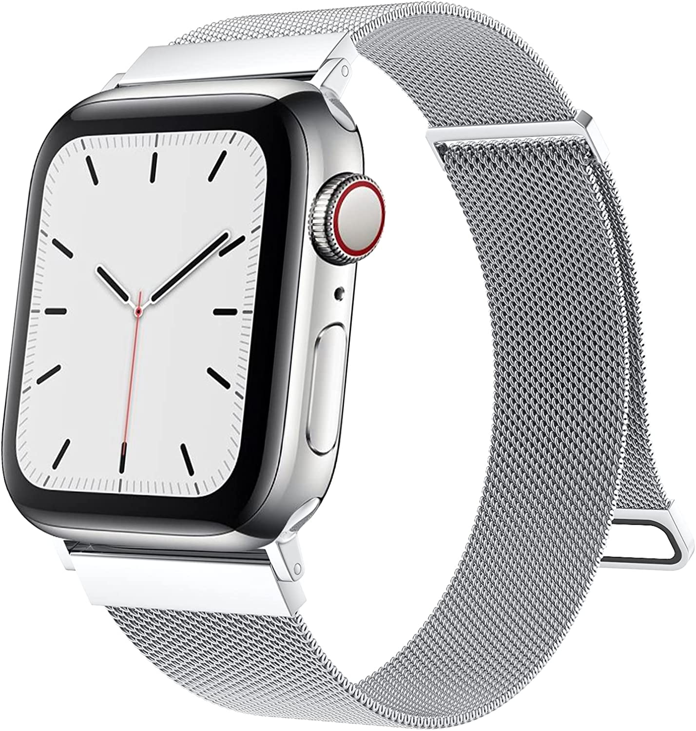 Cigamoya Compatible with Apple Watch Band 38mm 40mm 41mm 42mm 44mm 45mm Women Men, Super Adjustable Mesh Stainless Steel Wristbands with Strong Magnetic Clasp for iWatch Bands Series 7/6/SE/5/4/3/2/1