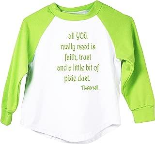 Dress Up Dreams Boutique Wholesale Princess Graphic Faith Trust & Pixie Dust Raglan T-Shirt