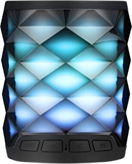 Bluetooth Speaker with lights / wireless speaker, 10 Color Spectrum light, HIFI Sound and 360° Surround, Built-in Mic, 5H Playtime, Portable Wireless Speaker for Iphone, Samsung More