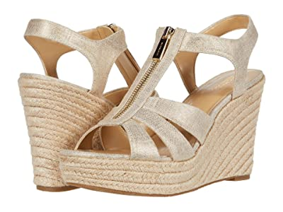 MICHAEL Michael Kors Berkley Wedge (Pale Gold) Women