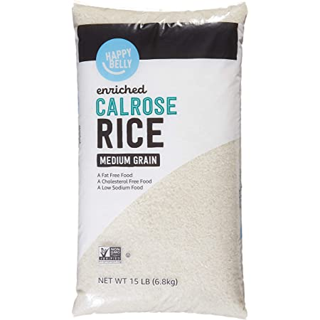Happy Belly White Calrose Rice (Medium Grain) 15 lb