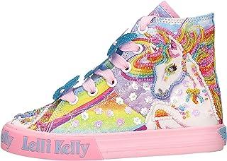 Lelli Kelly Unicornio - Zapatillas altas de tela con cremallera lateral