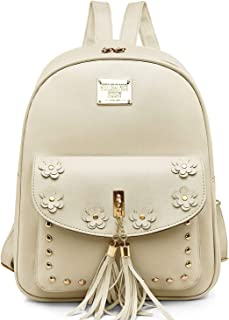Redlicchi Fashion Cute Mini Leather Backpack sling & pouch set for Women/Girls (Grey)