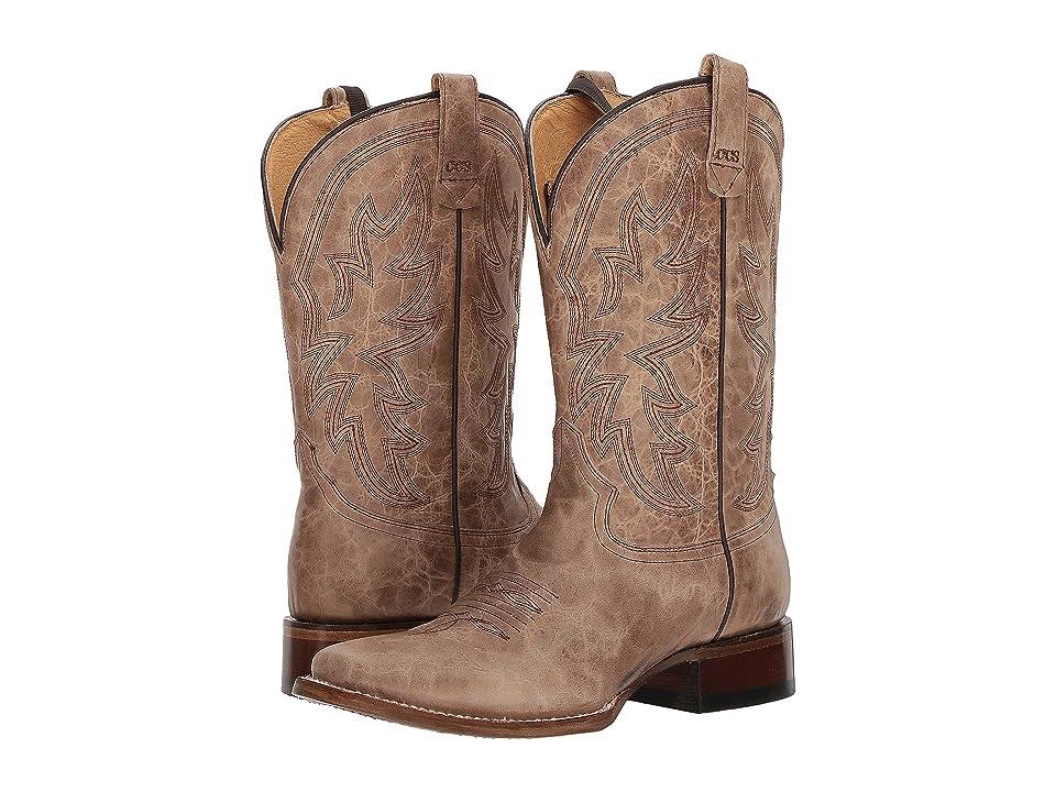 Roper Sense 1 (Waxy Tan Vamp) Cowboy Boots