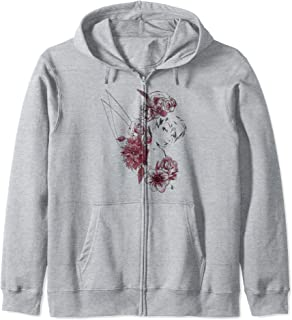 Disney Peter Pan Tinkerbell Flowers Floral Outline Sweat à Capuche
