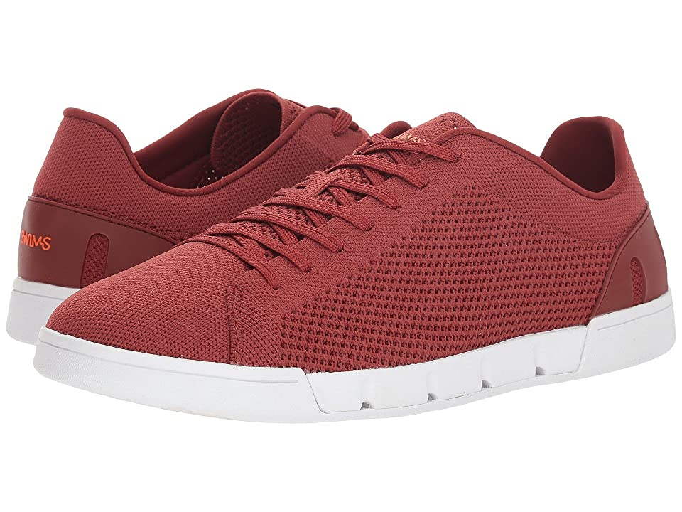 SWIMS Breeze Tennis Knit (Red Lacquer/White) Men