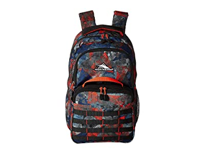 High Sierra Joel Lunch Kit Backpack (Urban Mesh/Black/Redline) Backpack Bags