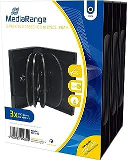 MediaRange BOX35 -10 - 3 x cajas de DVD para 10 discos ópticos