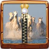White Horses Zip Blocco schermo