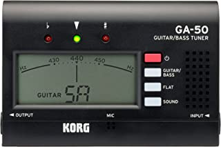KORG GA-50 Guitar and Bass Tuner with Modes for up to 7-String Guitars and 6-String Basses